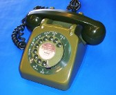 GPO 706 Rotary dial telephone in two tone green