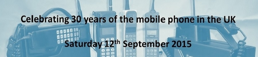 Celebrating 30 years of the mobile phone in the UK - collection of first generation mobiles