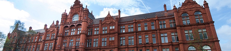 A view of the Peel Building at the University of Salford